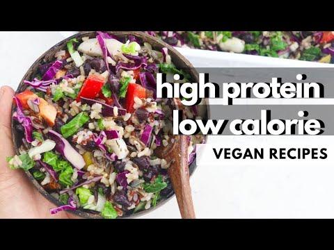 EASY LOW CALORIE & HIGH PROTEIN VEGAN RECIPES (Vegan Meal Prep, GLUTEN FREE TOO)