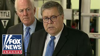 Barr discusses Jeffrey Epstein case with media