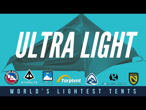 Ultralight Camping: The LIGHTEST Tents in the WORLD