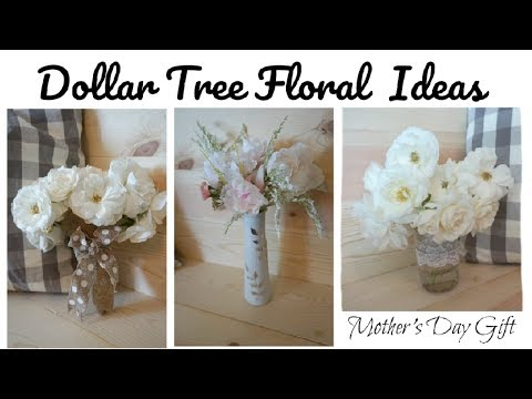 DIY Dollar Tree Floral Ideas | Mother's Day Gifts | Momma From Scratch