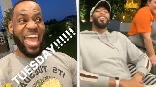 LeBron James + Anthony Davis FIRST EVER TACO TUESDAY!!!