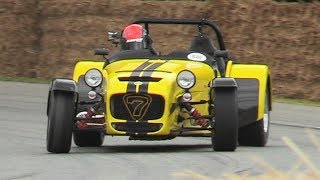 LOUD Caterham Seven 620R Driven Fast at Goowood FOS 2017