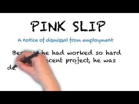 Pink Slip - English Idioms