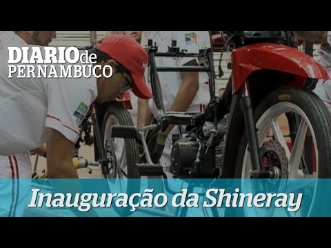 Inaugura��o da f�brica de Shineray