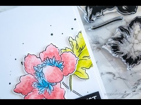Coloring Stamp Images Using Pastel Pencils
