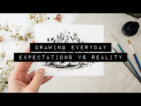 Drawing Everyday for a Month | Inktober Expectations vs. Reality