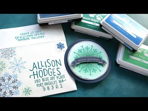 Holiday Card Series 2019 – Day 24 – Snowflakes & Mail Art