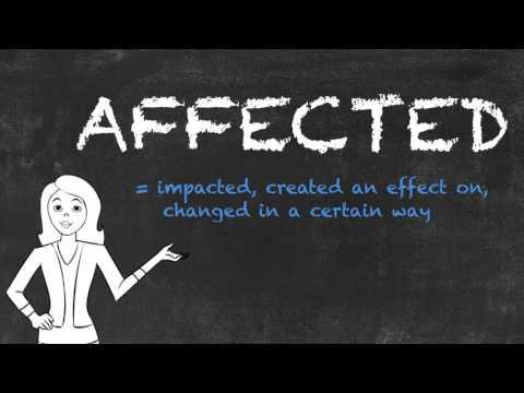 Affected vs Effected - English Grammar - Teaching Tips