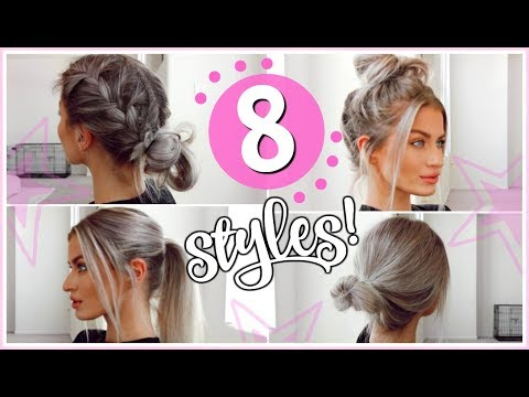 8 HEATLESS 5 MINUTE HAIRSTYLES! - EASY & SIMPLE! | LYSSRYANN - UCFqs6idNxxO-exYl6nGk3yQ