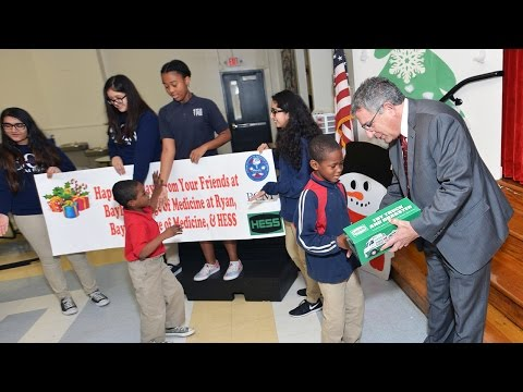 Hess Toy Truck donation to Baylor College of Medicine