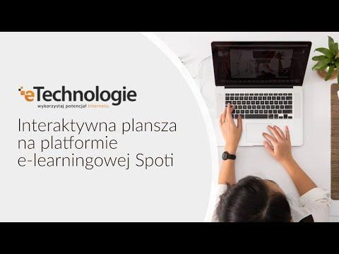 Interaktywna plansza na platformie e-learningowej Spoti