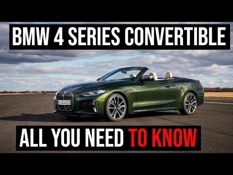 2021 BMW 4 Series Convertible - Walkaround, Driving, Roof Operation and Engine Sound