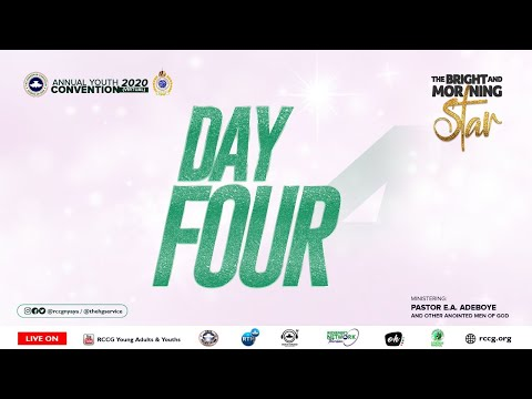 DAY 4 RCCG YOUTH CONVENTION 2020 - AFTERNOON SESSION
