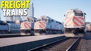 [LIVE🔴] NEW - American Freight & Passenger Train DLC | Train Sim World Gameplay
