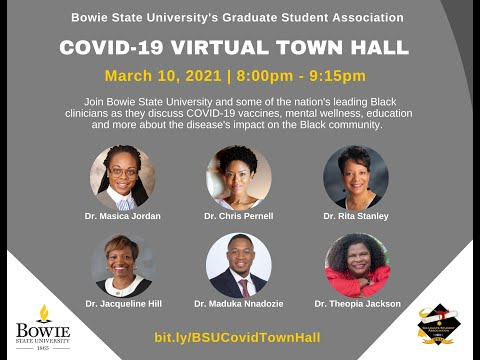 Bowie State COVID-19 Virtual Town Hall