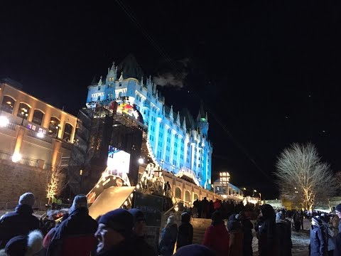 McMillan and friends brave the cold for Red Bull Crashed Ice in Ottawa.