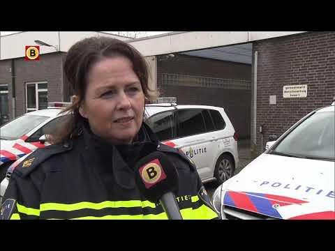 De politie reageert op de caféruzie in Nuenen waarbij een dode viel