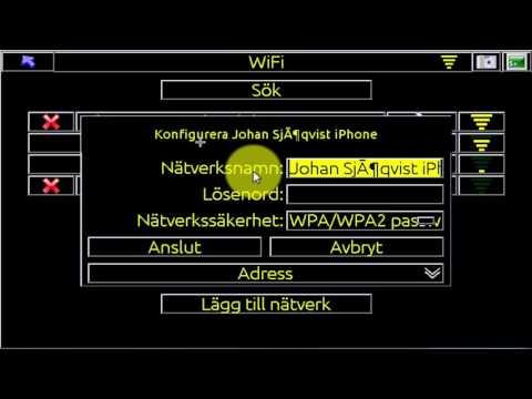 Hur Du ansluter iCON3D mot WiFi för anslutning mot iCONtelematics