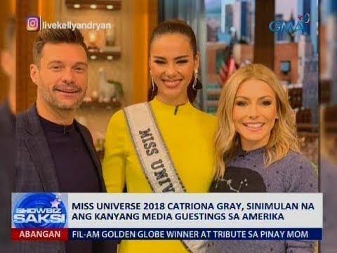 Saksi: Miss Universe 2018 Catriona Gray, sinimulan na ang kanyang media guestings sa Amerika