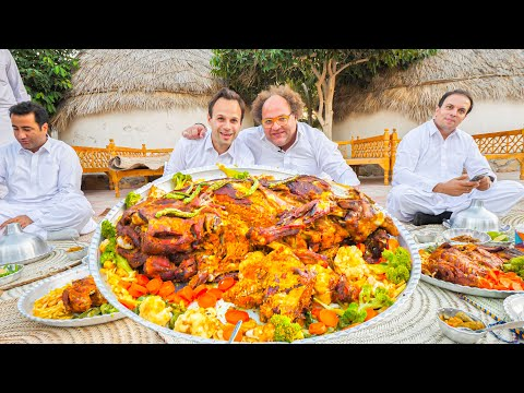 Street Food in Balochistan – GOLD STUFFED LAMB + INSANE BBQ Meat Tour of Chabahar, Iran!!!