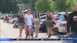 Move-in day for students at Edinboro University