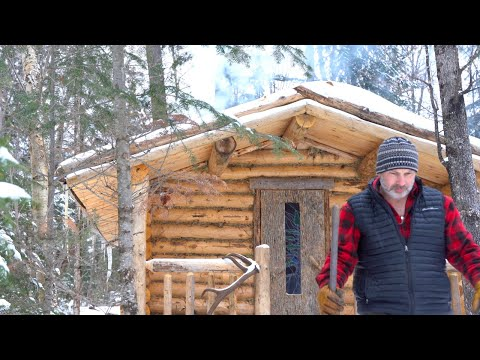 Off Grid Laundry and Wolves at the Log Cabin