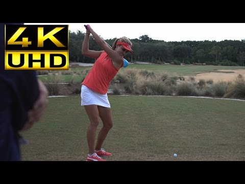 LEXI THOMPSON 4K UHD - DTL DRIVER GOLF SWING CME GROUP TOUR CHAMPIONSHIP SLOW MOTION