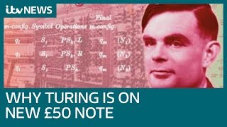 Code breaking computer scientist Alan Turing to be celebrated on new £50 note| ITV News