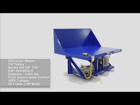 Efficiency Master Tilt Tables EM1-500-6050-4