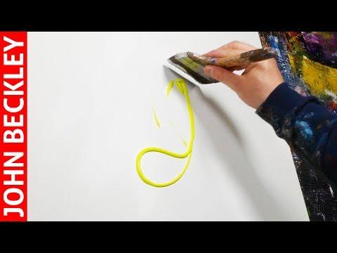 Démonstration Peinture Abstraite à l'Acrylique Fluo | Autumn Burning
