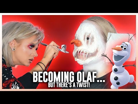 Glam&Gore Transforms Me Into FROZEN'S OLAF... but there's a twist!