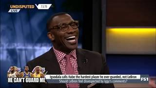 Undisputed | Iguodala calls Kobe the hardest player he ever guarded, not LeBron - Shannon SHOCKED