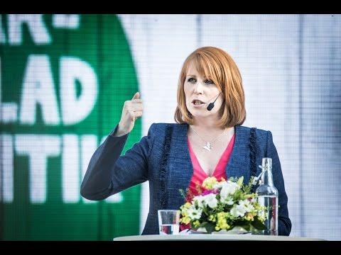 Annie Lööfs tal i Almedalen