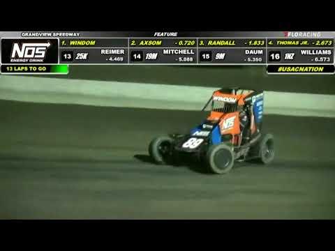 8-3-2021: Grandview Speedway | USAC NOS Energy Drink National Midget Highlights - dirt track racing video image