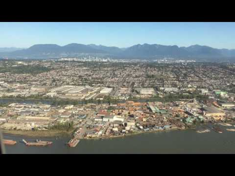 Beautiful landing at Vancouver Airport (YVR)