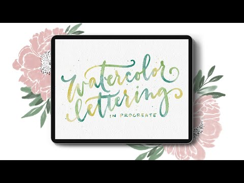 New Course! Watercolor Lettering in Procreate