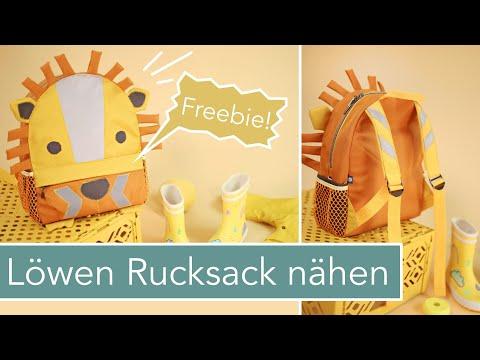 Kinder Rucksack Leo nähen - kostenlose Anleitung #KinderrucksackLeo