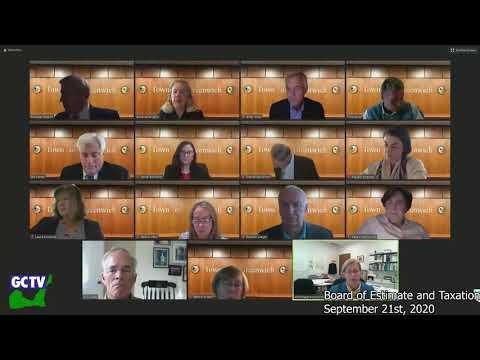 Board of Estimate & Taxation, September 21, 2020