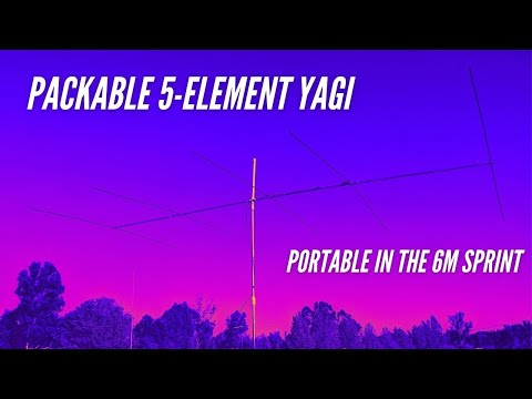 Antenna Showdown -  New Packable Yagi vs Vertical in the 6m Sprint