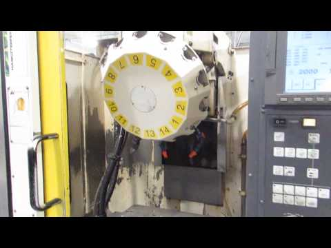Fanuc RoboDrill T14ia-PC2 CNC VMC w Pallet Changer - Online Auction at www.machinesused.com