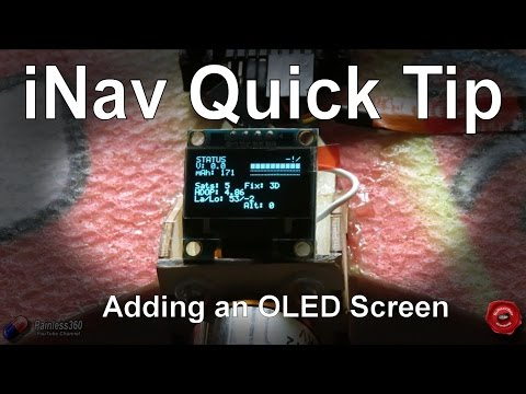 RC Quick Tips: Adding an OLED screen to iNav - UCp1vASX-fg959vRc1xowqpw