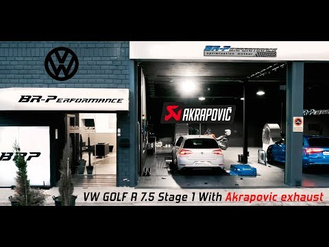 VW Golf R 7.5 Stage 1 with Akrapovic exhaust & Intercooler Wagner By BR-Performance