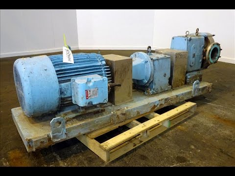 Used- Waukesha Rotary Positive Displacement Pump, Model 320 - stock # 47384101