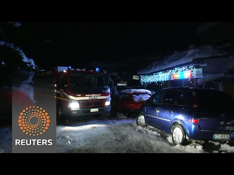 Relatives await fate of loved ones caught in hotel avalanche