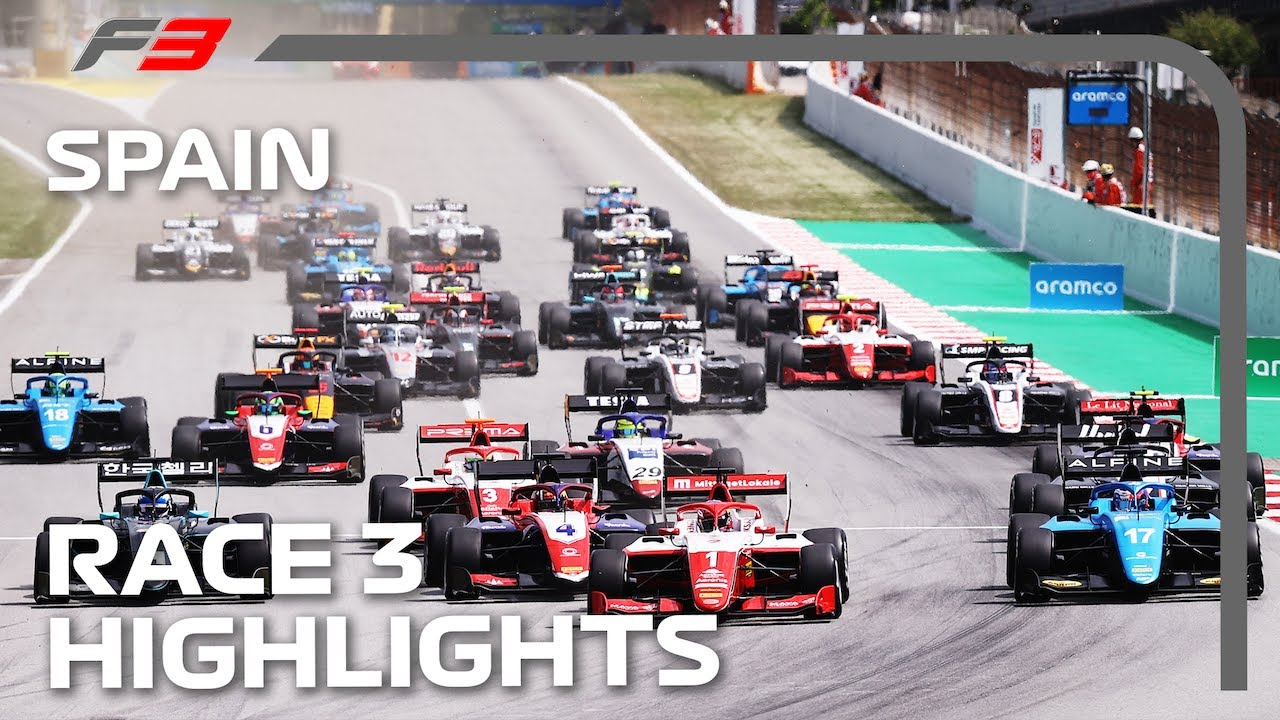 F3 Race 3 Highlights | 2021 Spanish Grand Prix