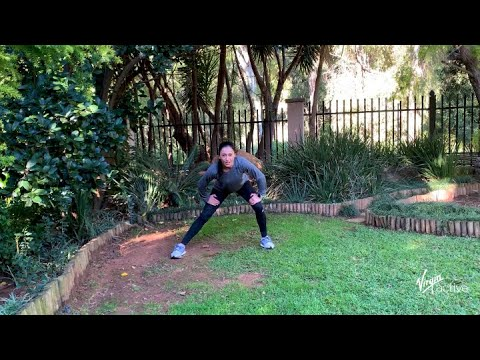 20 min stretch and tone lower body circuit with Fiddy from Virgin Active | Vitality at Home