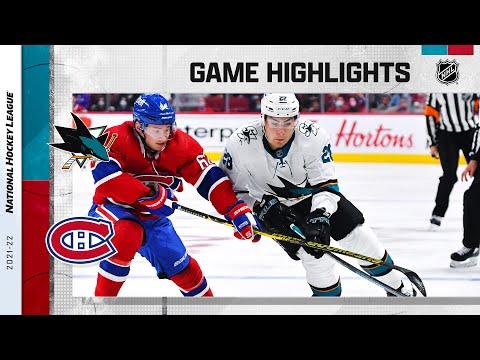 Sharks @ Canadiens 10/19/21 | NHL Highlights
