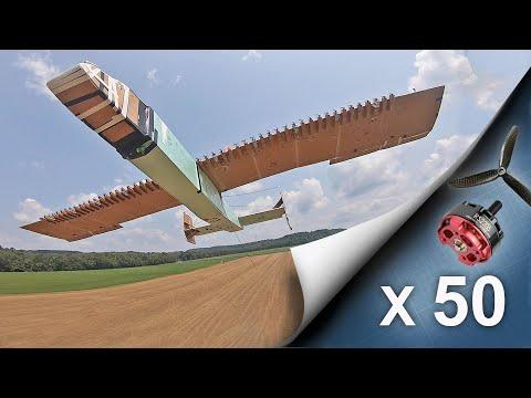 Peter spoil efendi 50 kişiyle 50 motorlu bir uçak yaptı ve uçurdu