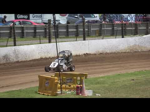All of the races for the Division 1 and 2 Quarter Midgets at the meeting held at Rosebank Speedway on Sunday 09 December 2018 - there were 3 heats and a feature for each division - dirt track racing video image