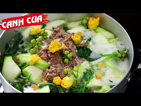 Cách nấu CANH CUA RAU TẬP TÀNG đậm chất miền quê - Món Ăn Ngon